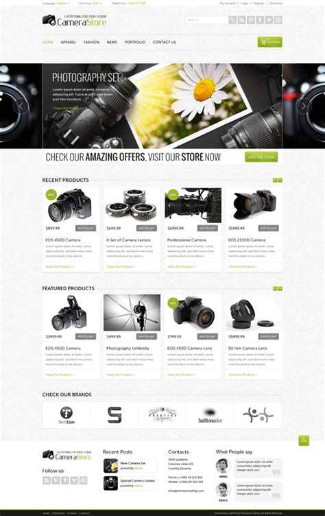 Camy Ecommerce Website Template Website Templates On Creative Market Ecommerce Grocery Website Templates