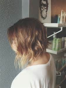 Short angled bob with ombre aveda color hair pinterest