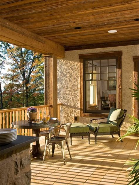 design of veranda of house rustic veranda home design ideas pictures remodel and decor
