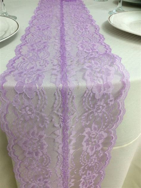 lacender weddings lavender lace table runner 3ft 10ft