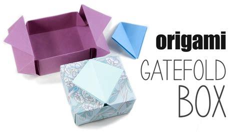 How To Make A Cool Origami Box - origami gatefold box tutorial diy