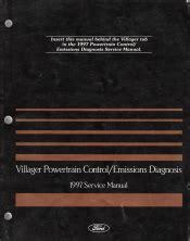 auto repair manual online 1997 mercury villager engine control 1997 mercury villager powertrain control emissions diagnosis