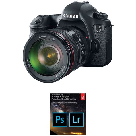canon 6d dslr canon eos 6d dslr with 24 105mm f 4l lens and adobe b h