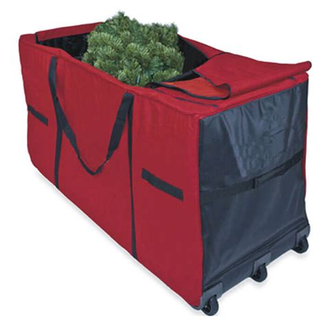 christmas tree storage bag with wheels from camerons
