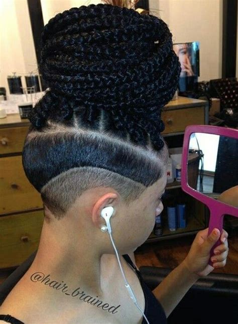 my next hairstyle cornrows with shaved sides and back 20 best box braids with shaved sides images on pinterest