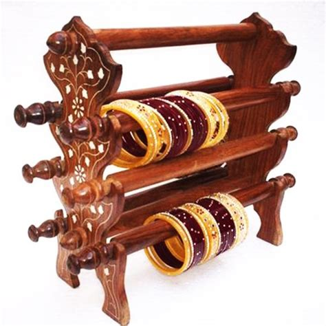 Indian Home Decor Online Shopping wooden bangle stand manufacturer from saharanpur