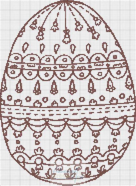 coloring egg cross stitch chart advanced cross stitch