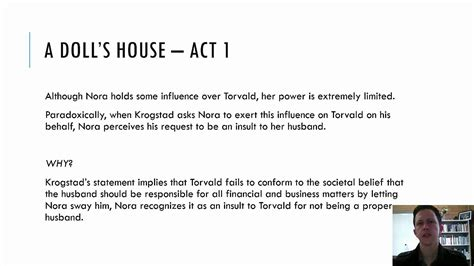a doll house analysis a doll house act 1 summary 28 images a doll s house act 1 digital theatre a doll