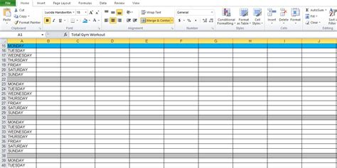 workout template spreadsheet workout plan spreadsheet for excel excel tmp