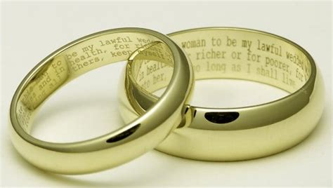 Engraving on your beautiful ring allows you to make your wedding band