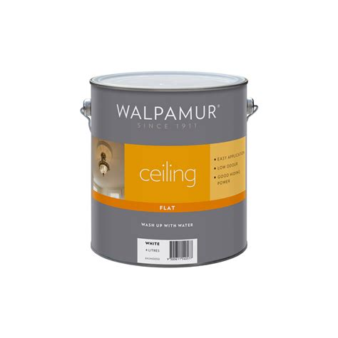 Flat White Ceiling Paint by Walpamur Ceiling 4l Flat White Paint Bunnings Warehouse