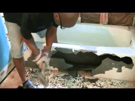 removing an old bathtub how to remove cast iron bath tub youtube