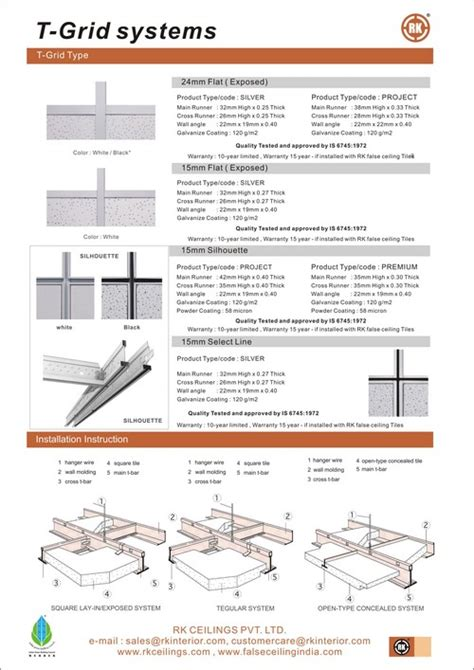 grid section t section for grid ceilings in new delhi delhi india r