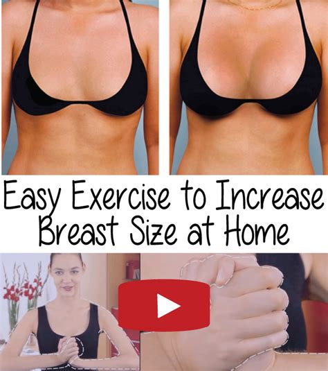 easy exercise to increase breast size at home e