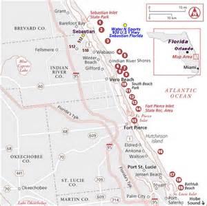 map of treasure coast florida florida treasure coast dive surf map ideas
