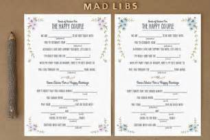 wedding libs template wedding mad libs just in
