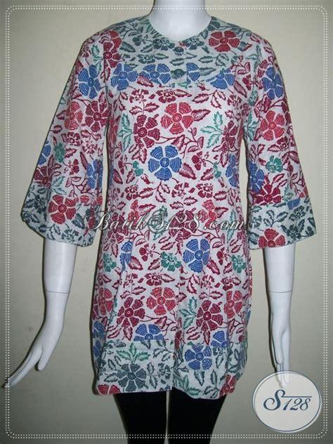 Kemeja Batik Katun Cap Elegan Batik Nurisma 4 batik kerja perempuan modern lengan 3 4 elegan dan keren