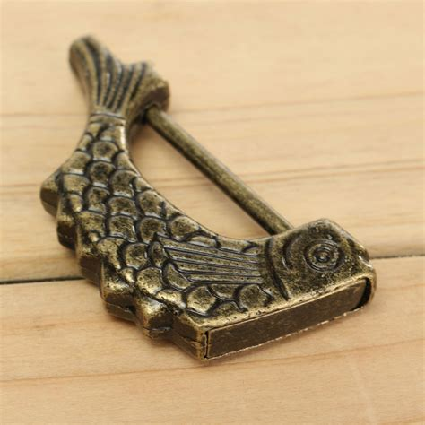 pattern lock new style chinese antique old style retro brass padlock jewelry box