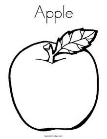 apple color apple coloring page twisty noodle