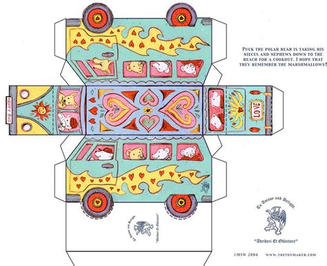templates for toy boxes valentine bus kids craft paper toys valentine paper