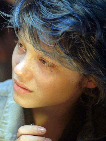 blue is the color lea seydoux blue hair photoshoot lea seydoux blue hair