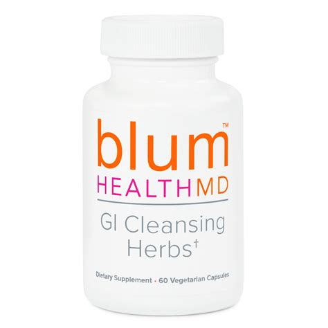 Gi Detox Supplement by Gi Cleansing Herbs Blum Health Md