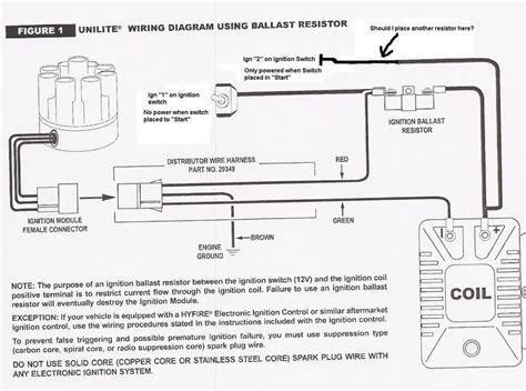 mallory unilite wiring diagram 3 wire ignition coil wiring