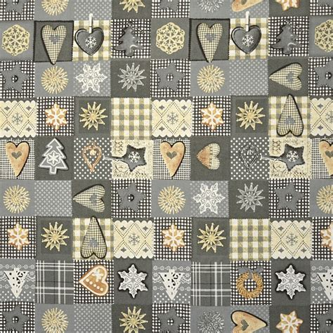 Patchwork Print Fabric - patchwork fabric grey rycfabrics