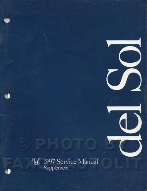 online car repair manuals free 1997 honda del sol instrument cluster 1997 honda civic del sol repair shop manual original