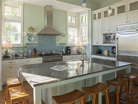 serenity in design kitchen islands house of turquoise serenity lake front home cucina