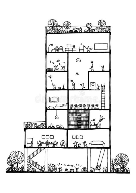 building drawing plan conceptual plan 1333 drawing up section concept design building and people lifestyle