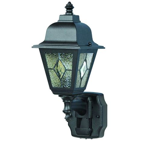 heath zenith 180 degree motion activated black decorative