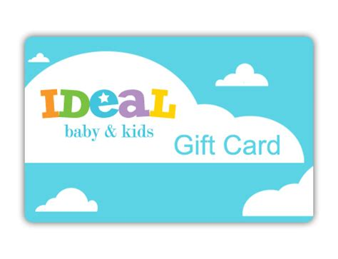 Kids Gift Cards - ideal baby kids gift card idealbaby com ideal baby