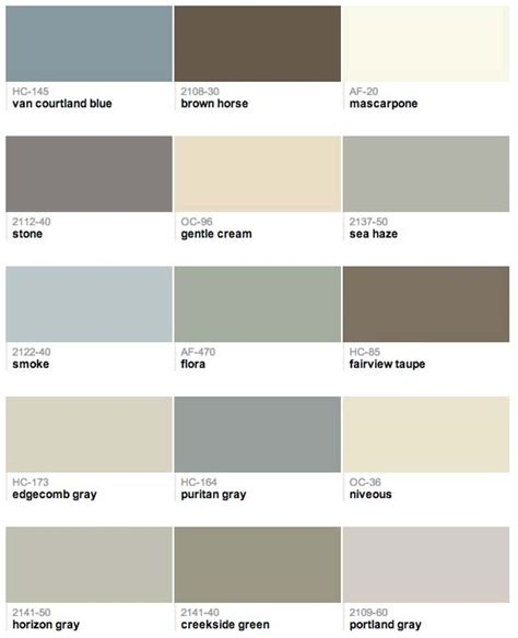 paint colors that go together 100 paint colors that go together best 25 benjamin