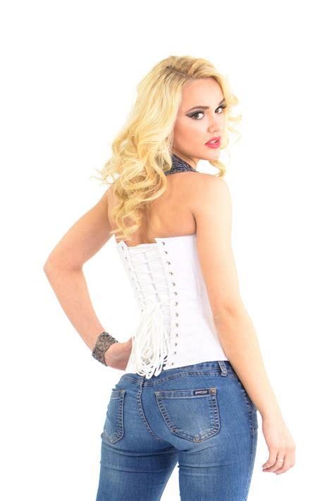 Satin Corset white satin corset satin overbust corsets glamorous