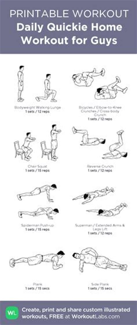 daily home workout for guys my custom workout