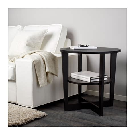 Vejmon Side Table Vejmon Side Table Black Brown 60 Cm Ikea