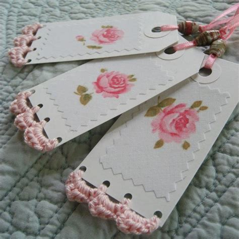 Handmade Tags - set of 3 vintage handmade gift tags