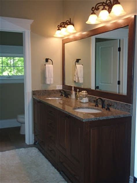 double vanity outside of the bathroom so two people can