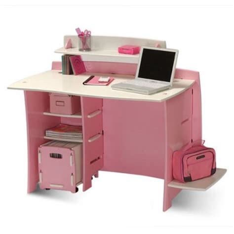 Assembly Desk by No Tools Assembly Desk Pink And White Walmart