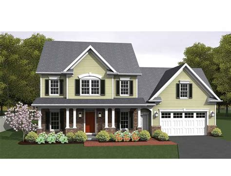 eplans colonial house plan two story great room 2256 301 moved permanently