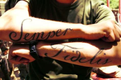 semper fi tattooed on his left arm 26 best images about tattoos on semper fi