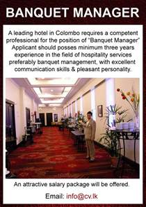 Banquet Manager by Banquet Manager Vacancies A Leading Hotel In Colombo