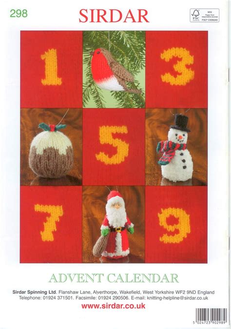 sirdar knitting pattern books sirdar 298 advent calendar knitting pattern book by alan dart