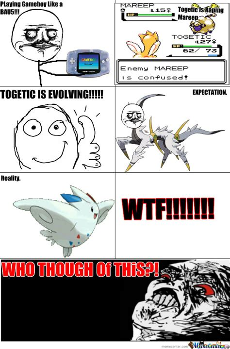 Pokemon Evolution Meme - togetic evolving by sadhiurabia meme center