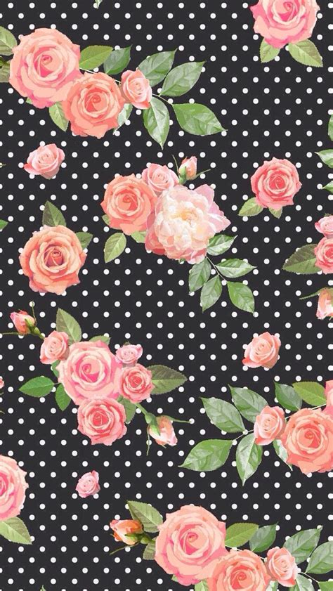 dot pattern unlock iphone floral black polka dot background wallpaper patterns