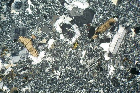 trachyte thin section drachenfels trachyte germany thin section microscope slide