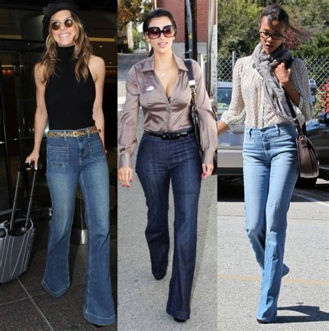 pendulum swing in fashion popular jeans trends for women 50s 60s 70s fashion