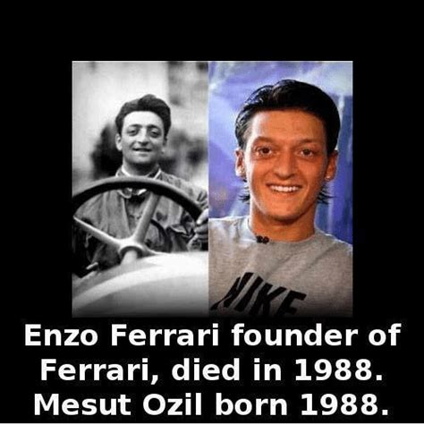 Enzo Ferrari 1988 by Enzo Ferrari Founder Of Ferrari Died In 1988 Mesut Ozil