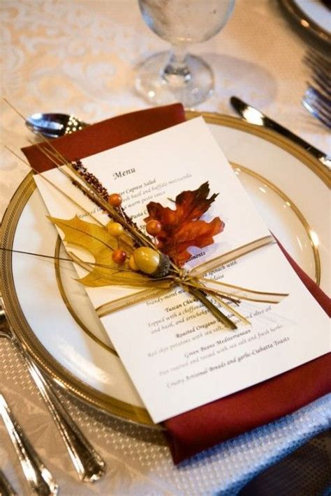 beautiful place settings beautiful and fun fall wedding ideas http www